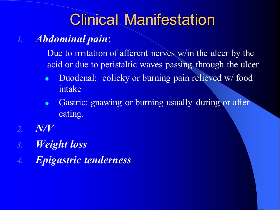 Clinical Manifestation 1.