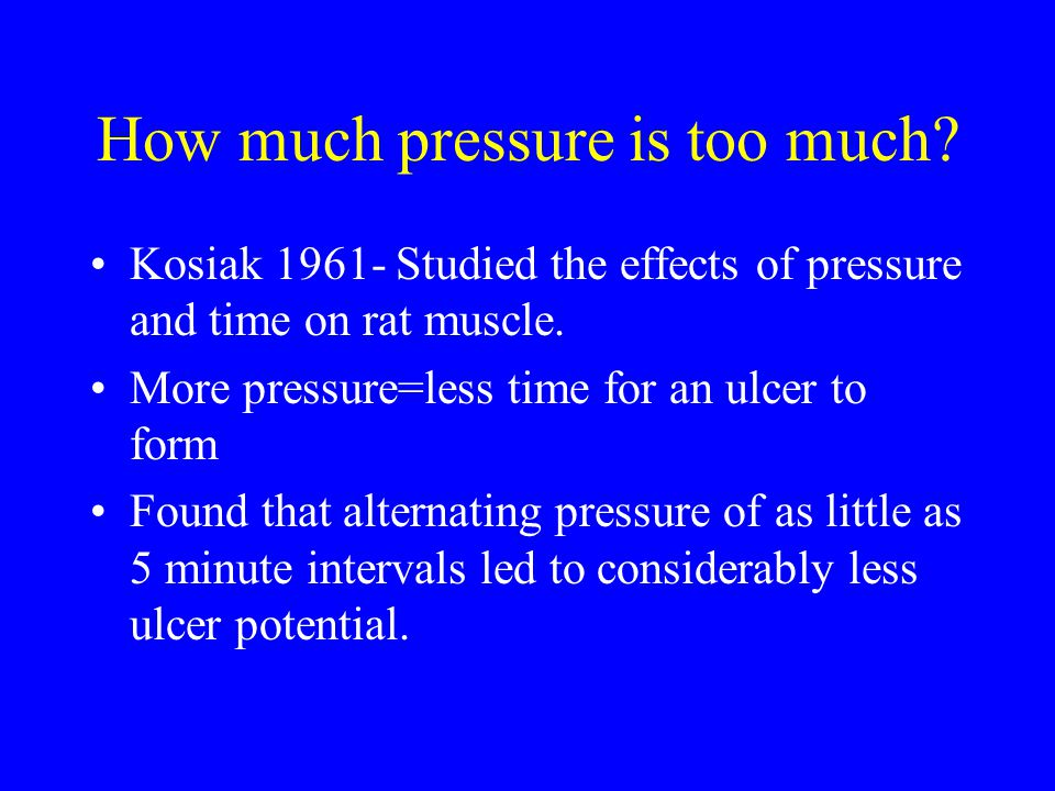 Kosiak's research led to the current practice of turning patients every two hours.