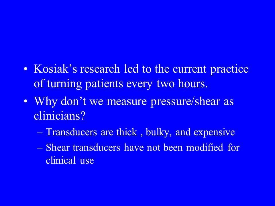 What is a safe amount of pressure.Studies by Landis et al.