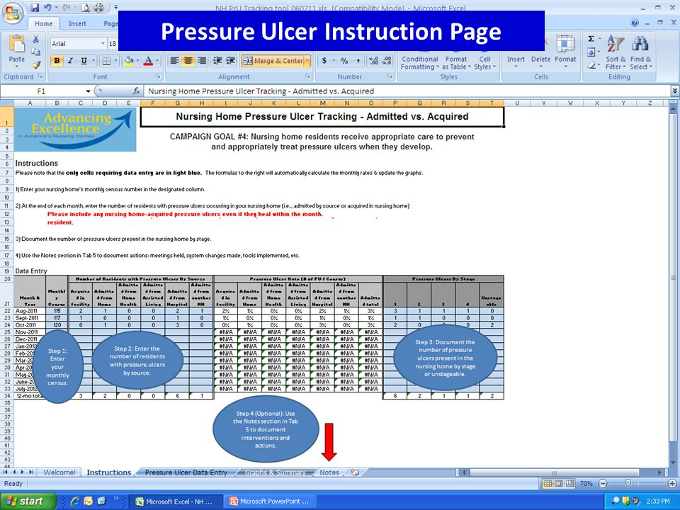www.nhqualitycampaign.org Pressure Ulcer Instruction Page