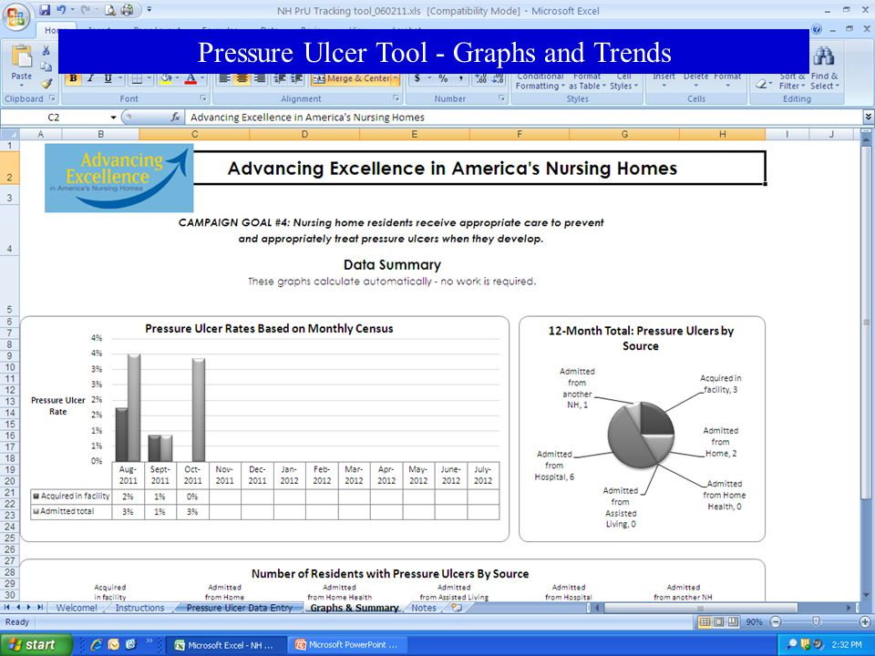 www.nhqualitycampaign.org Pressure Ulcer Tool - Graphs and Trends
