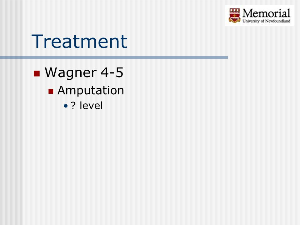 Treatment Wagner 4-5 Amputation ? level
