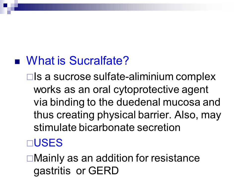 What is Sucralfate.