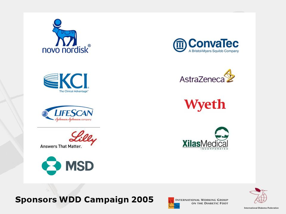 Sponsors WDD Campaign 2005