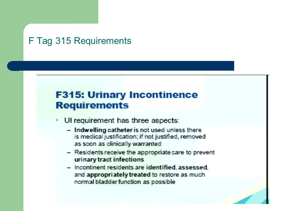 F Tag 315 Requirements