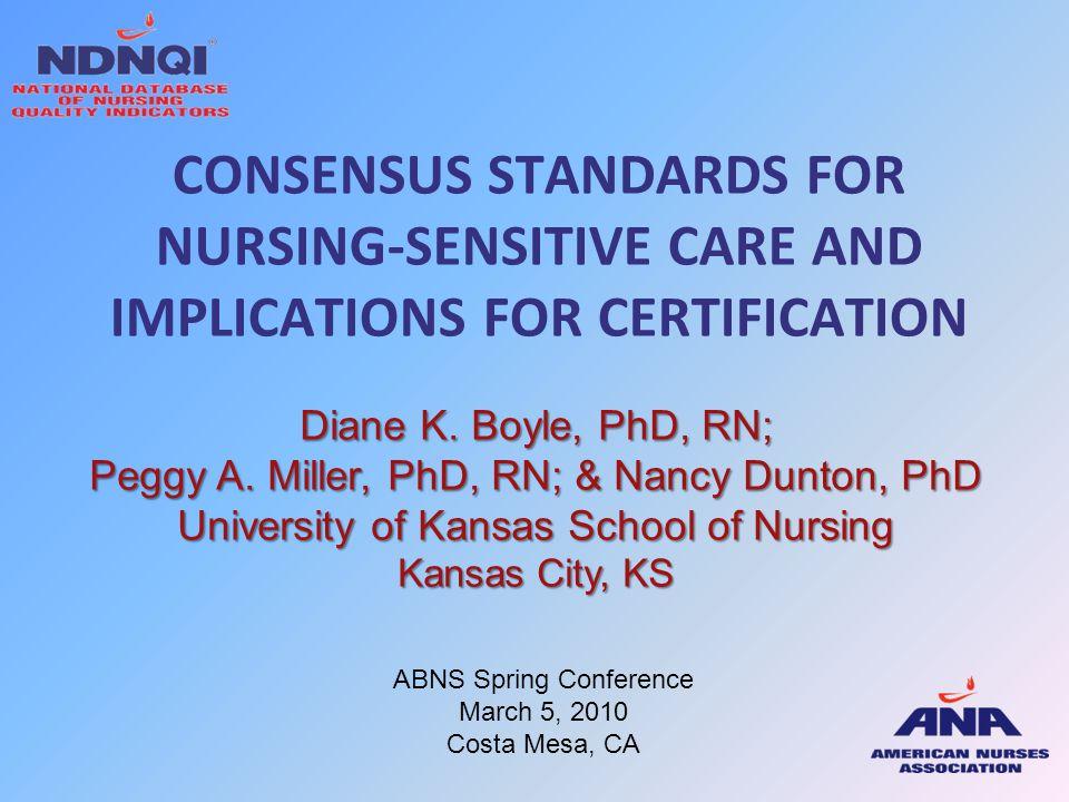 Objectives 1.Describe the evolution of nursing-sensitive indicators.