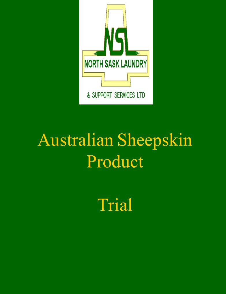 Australian Sheepskin Product Trial