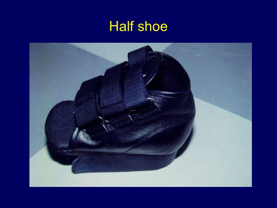 Half shoe