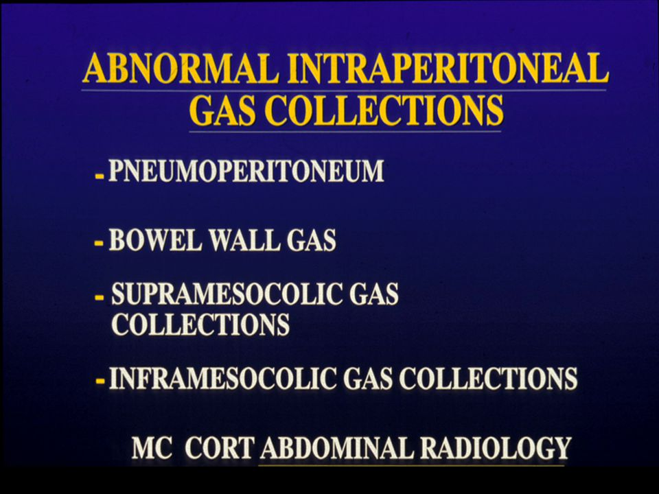 RETROPERITONEAL GAS EXTENDS TO POSTERIOR PARARENAL SPACE & THEN PROPERITONEAL FAT