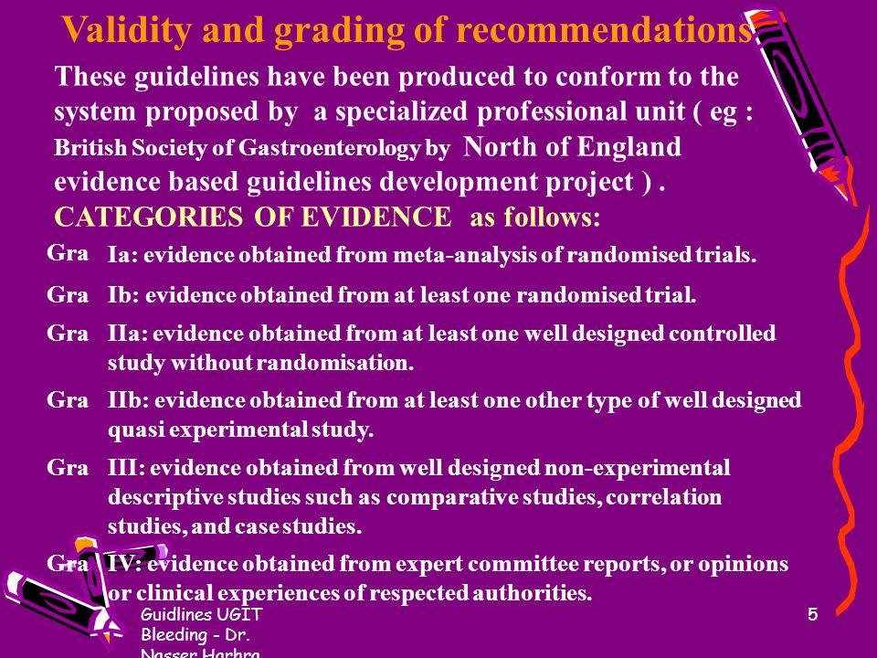 Guidlines UGIT Bleeding - Dr.Nasser Harhra 35 3.
