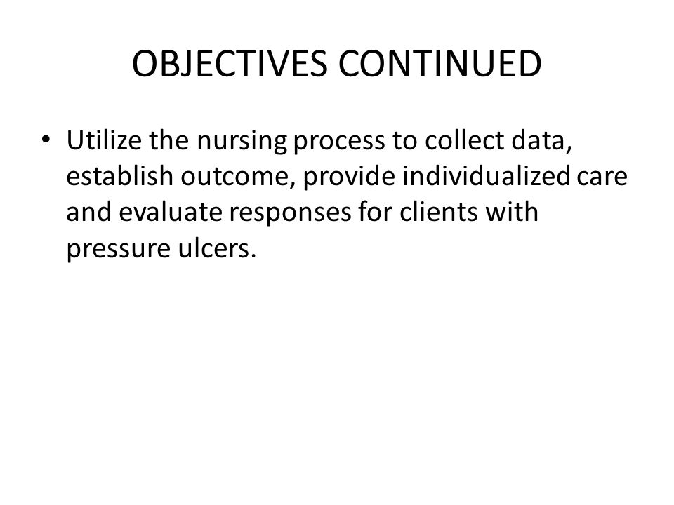 DIAGNOSTIC ASSESSMENT CLINICAL TOOL: Braden scale is one of the clinical tools used to asses a patient's risk for developing pressure ulcer by examining six criteria namely: 1)sensory perception: This is the ability to respond to discomfort or pain that is related to pressure on the parts of the body.