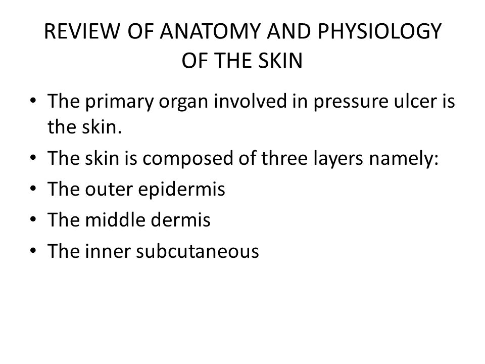DIAGNOSTIC ASSESSMENT CONTINUED 2) Moisture: Excessive and continuous skin moisture can pose a risk to compromise the integrity of the skin e.g immobility, sweat and incontinence.