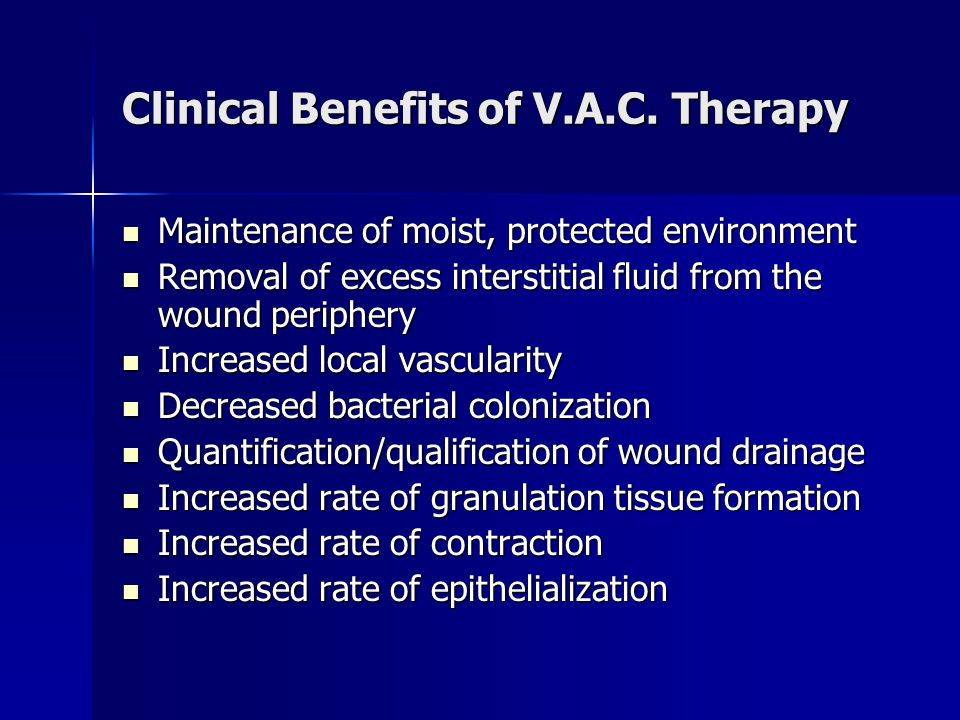 Application of the V.A.C.