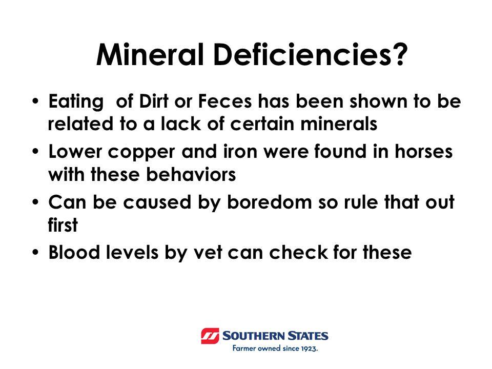 Mineral Deficiencies.