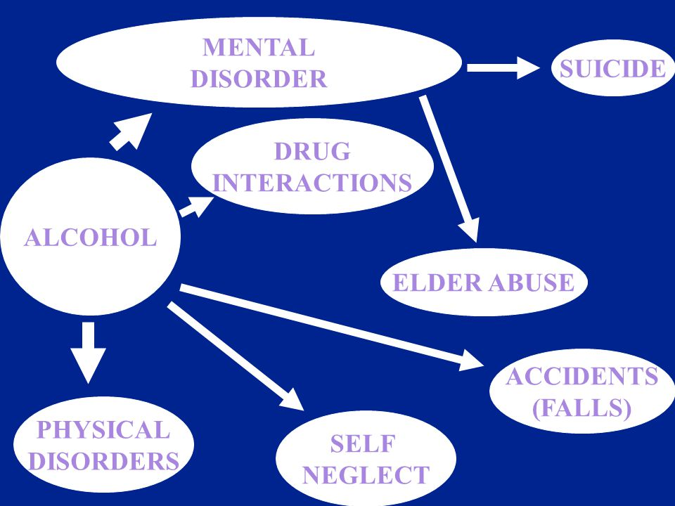 SUICIDE ACCIDENTS (FALLS) SELF NEGLECT PHYSICAL DISORDERS MENTAL DISORDER ALCOHOL ELDER ABUSE DRUG INTERACTIONS