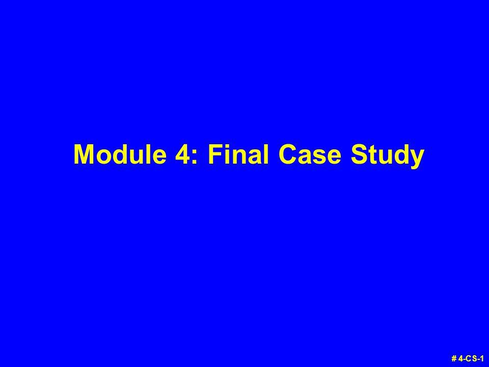 Module 4: Final Case Study # 4-CS-1