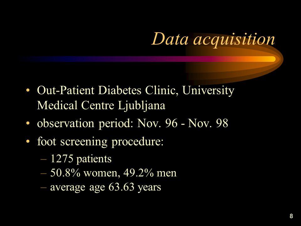 8 Data acquisition Out-Patient Diabetes Clinic, University Medical Centre Ljubljana observation period: Nov.