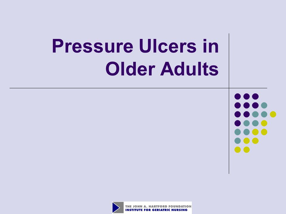 Pressure Ulcers in Older Adults