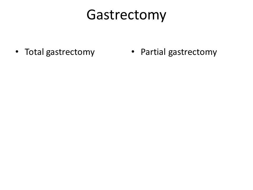 Gastrectomy Total gastrectomy Partial gastrectomy
