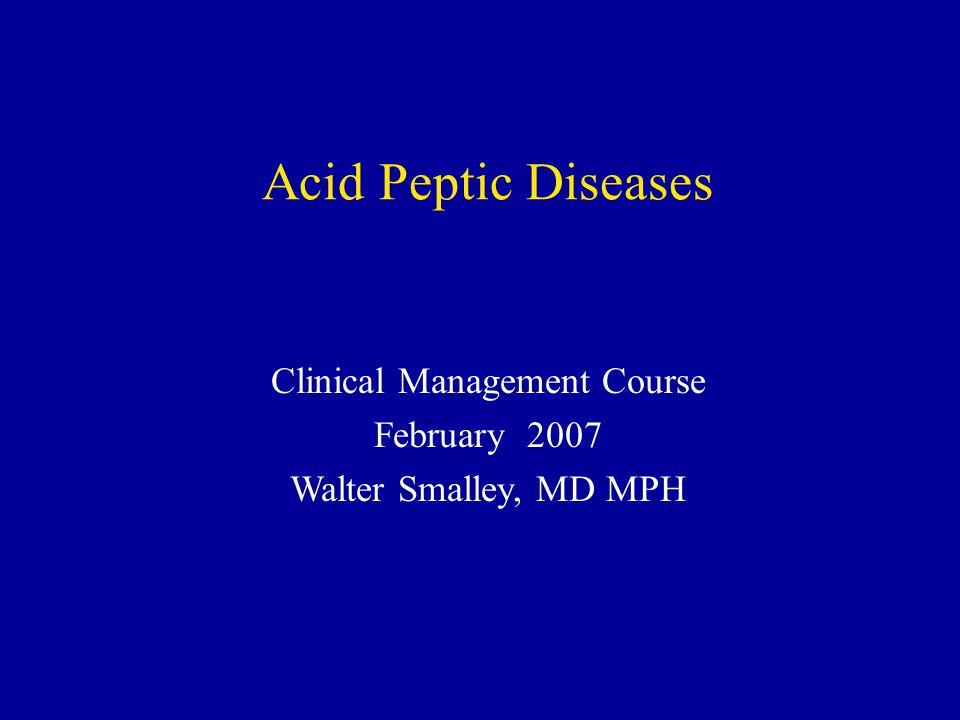 Case 5 Treatment with acid suppression QD H2 blockers, or proton pump inhibitor Treat H pylori Amoxicillin 1000 BID Clarithromycin 500 BID Omeprazole 20 BID