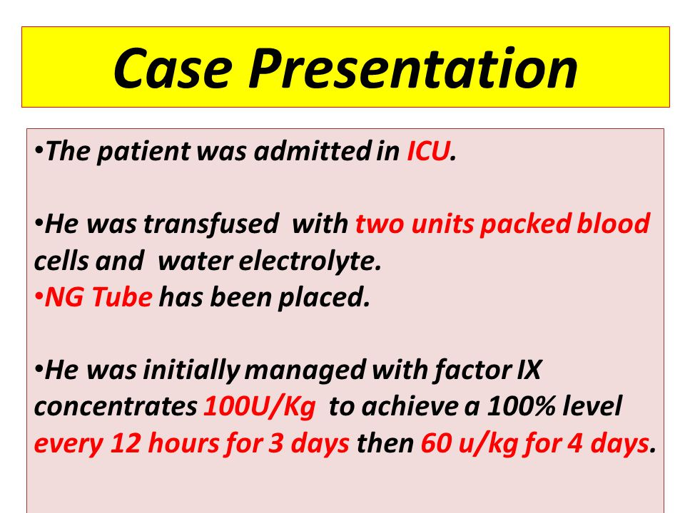7 Case Presentation The patient was admitted in ICU.