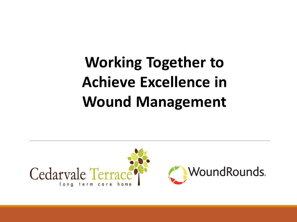 Working Together to Achieve Excellence in Wound Management