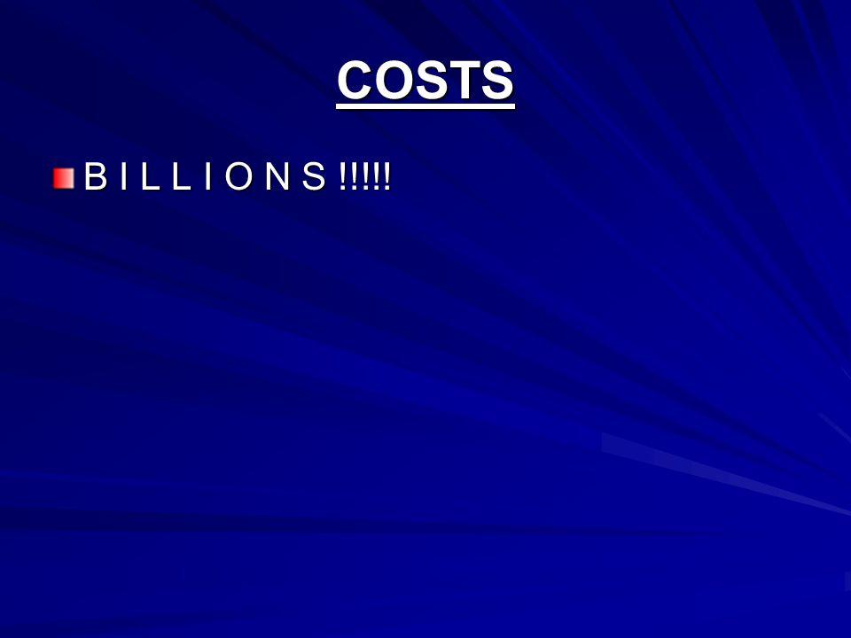 COSTS B I L L I O N S !!!!!