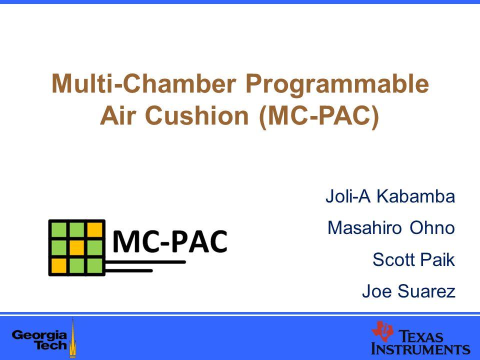 Multi-Chamber Programmable Air Cushion (MC-PAC) Joli-A Kabamba Masahiro Ohno Scott Paik Joe Suarez