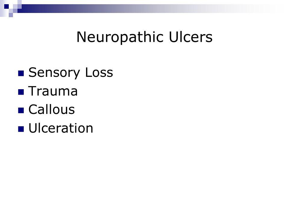 Neuropathic Ulcers Sensory Loss Trauma Callous Ulceration