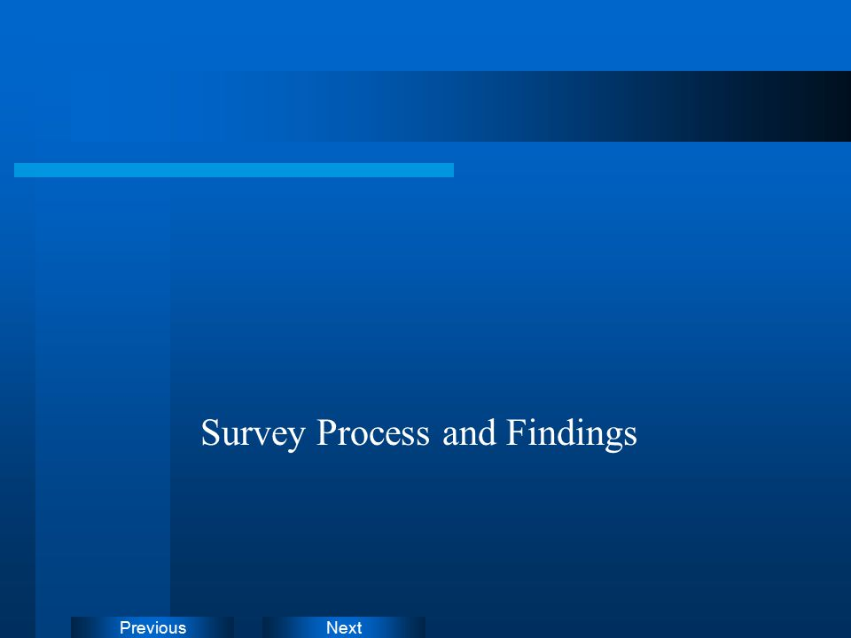 NextPrevious Survey Process and Findings