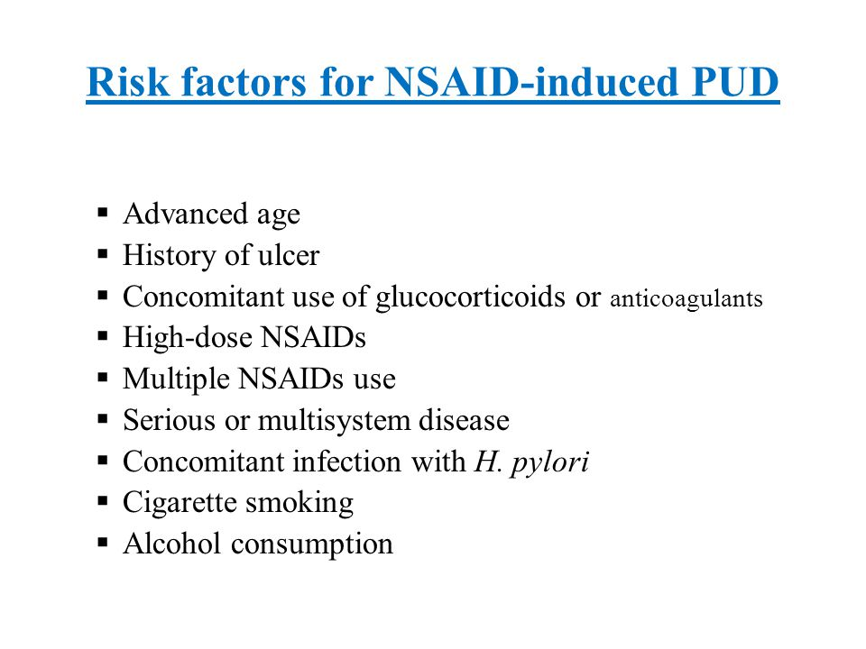 Cigarette smoking  Increase duodenal acid by:  Increasing gastric acid secretion  Impair duodenal and pancreatic bicarbonate  Smokers are at increased risk for DU and GU