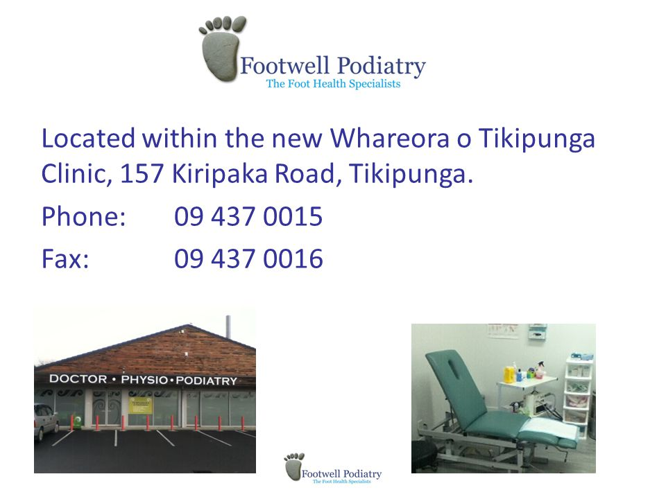 Located within the new Whareora o Tikipunga Clinic, 157 Kiripaka Road, Tikipunga.