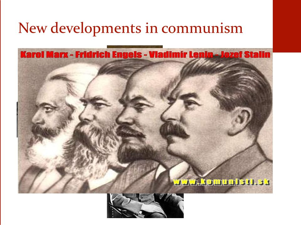 New developments in communism