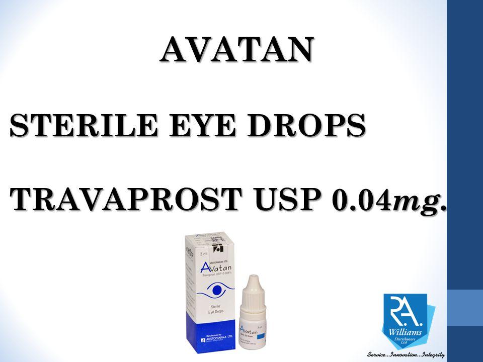 AVATAN STERILE EYE DROPS TRAVAPROST USP 0.04 mg.