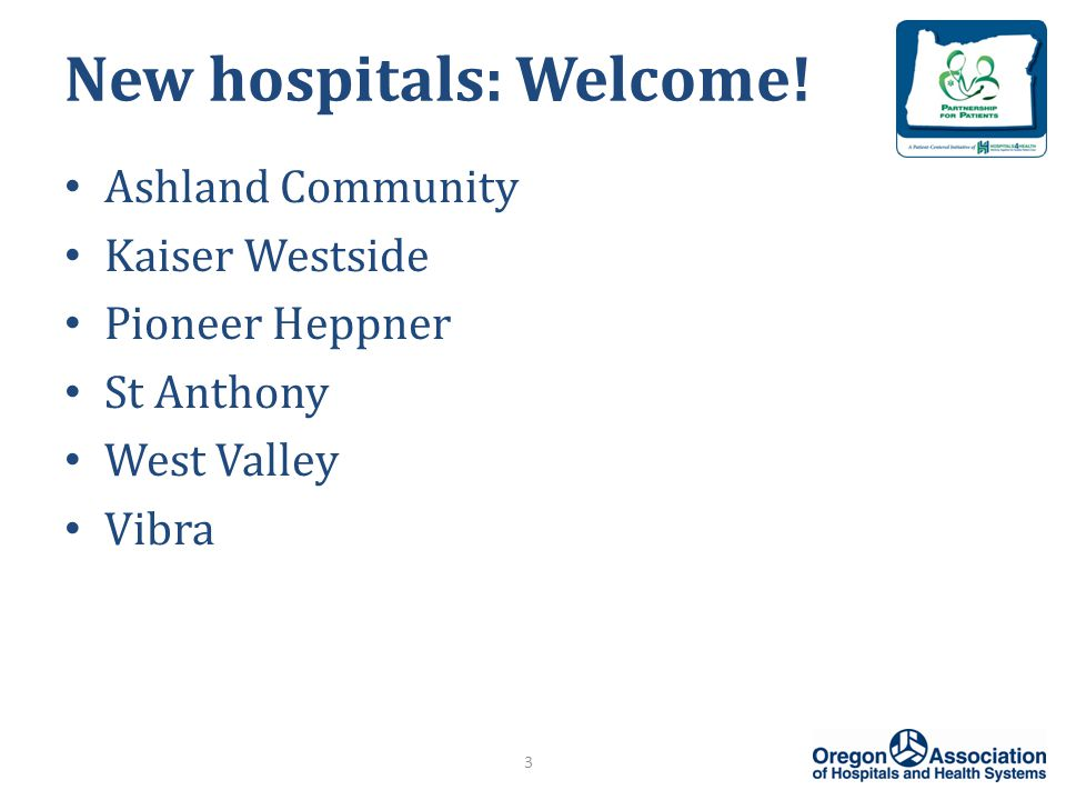 New hospitals: Welcome.