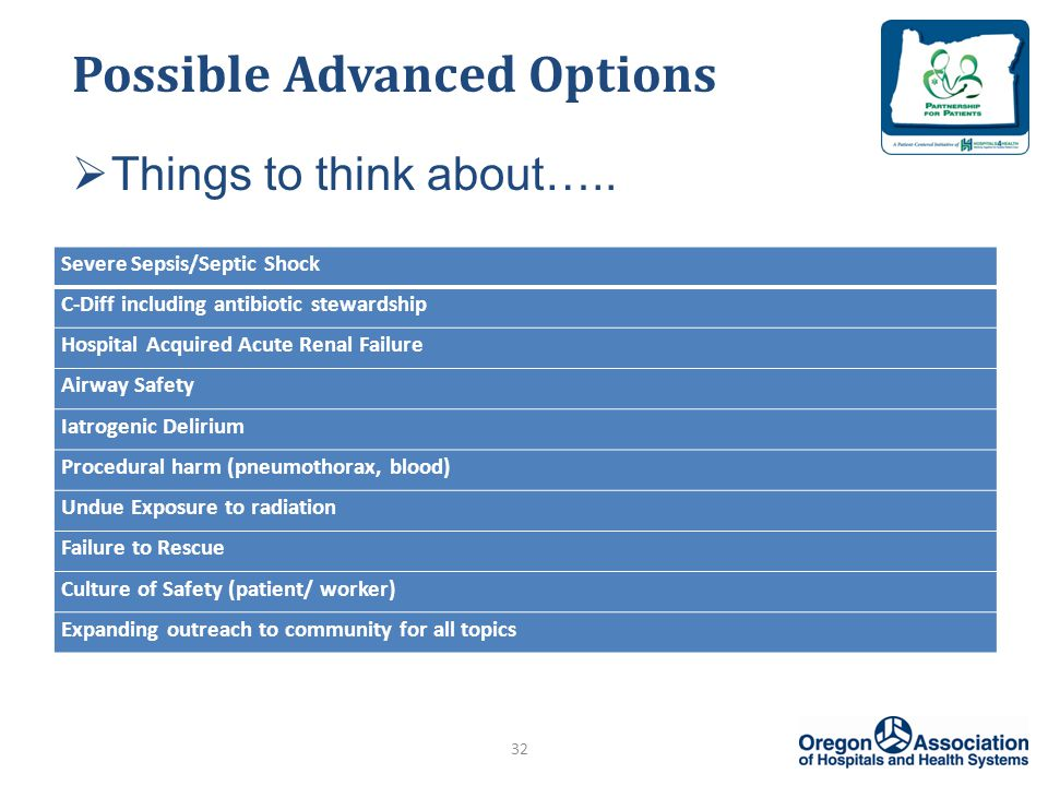 Possible Advanced Options  Things to think about…..