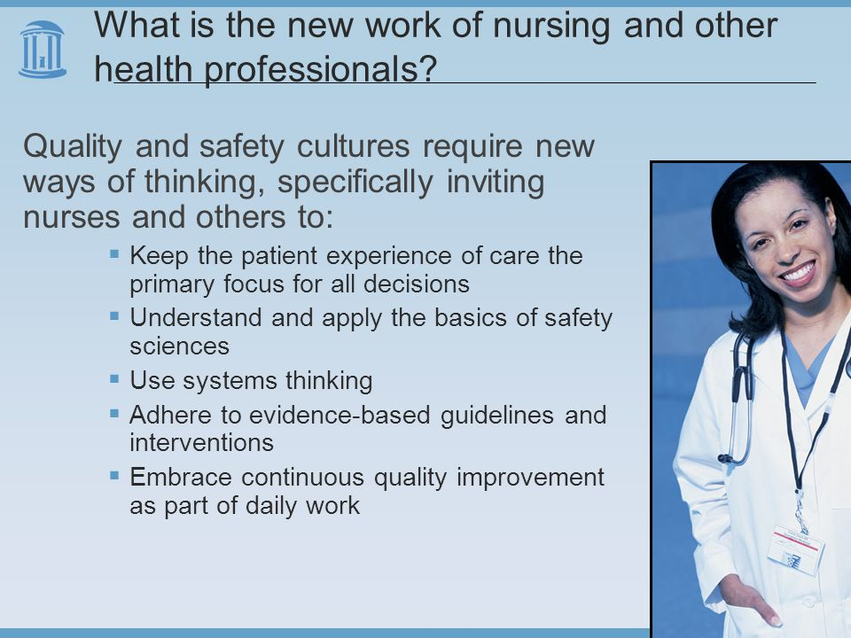 What is the new work of nursing and other health professionals.
