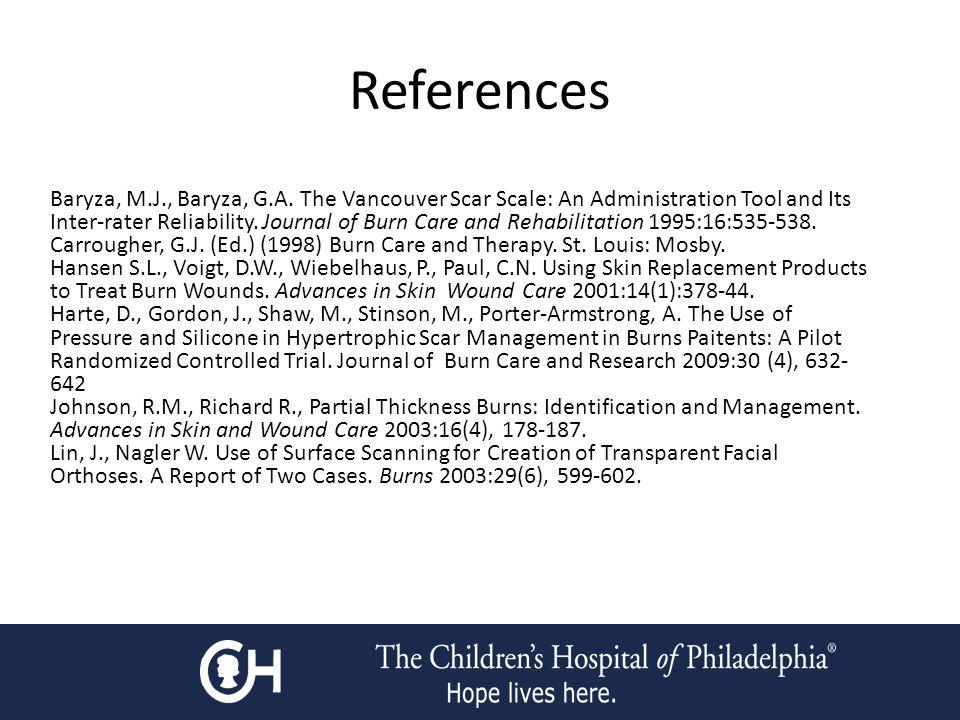 References Baryza, M.J., Baryza, G.A.