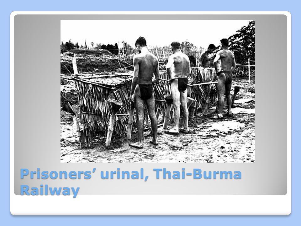 Prisoners' urinal, Thai-Burma Railway