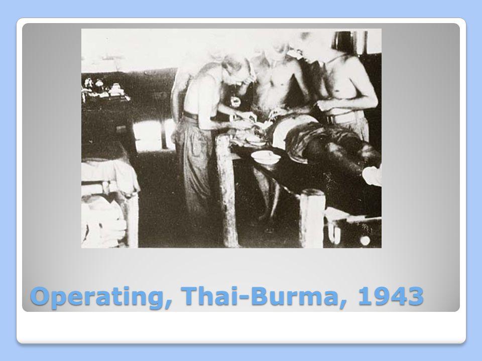 Operating, Thai-Burma, 1943