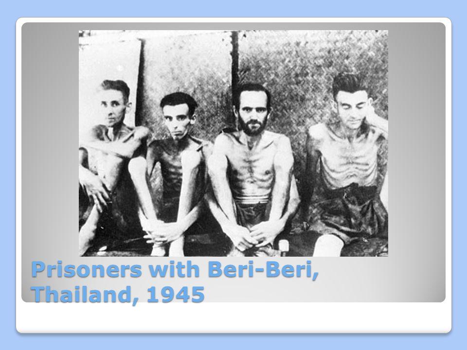 Prisoners with Beri-Beri, Thailand, 1945