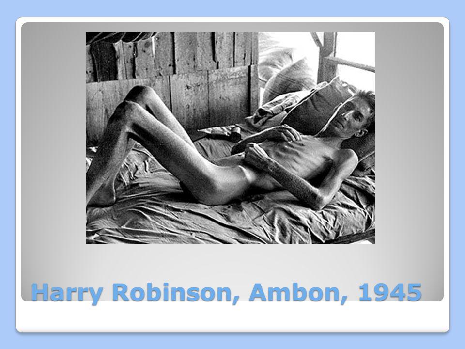 Harry Robinson, Ambon, 1945