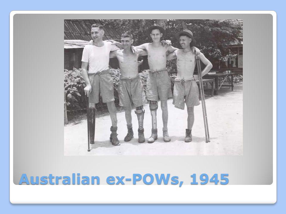 Australian ex-POWs, 1945