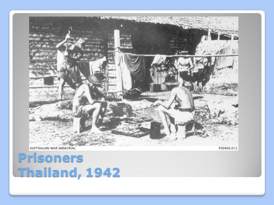 Prisoners Thailand, 1942
