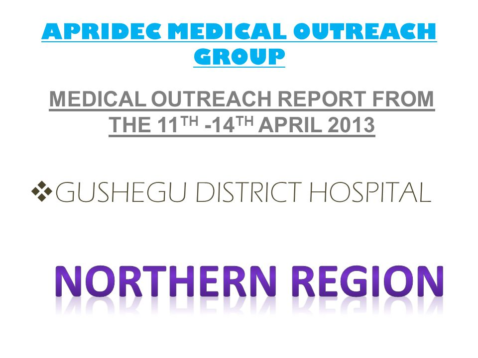 APRIDEC MEDICAL OUTREACH GROUP