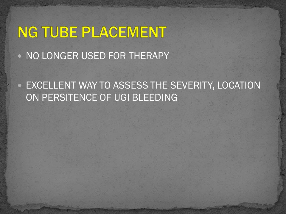 NO LONGER USED FOR THERAPY EXCELLENT WAY TO ASSESS THE SEVERITY, LOCATION ON PERSITENCE OF UGI BLEEDING