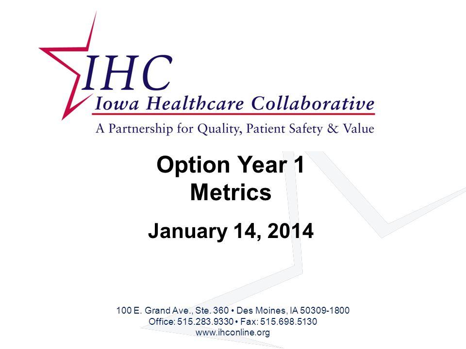 Option Year 1 Metrics January 14, 2014 100 E. Grand Ave., Ste.