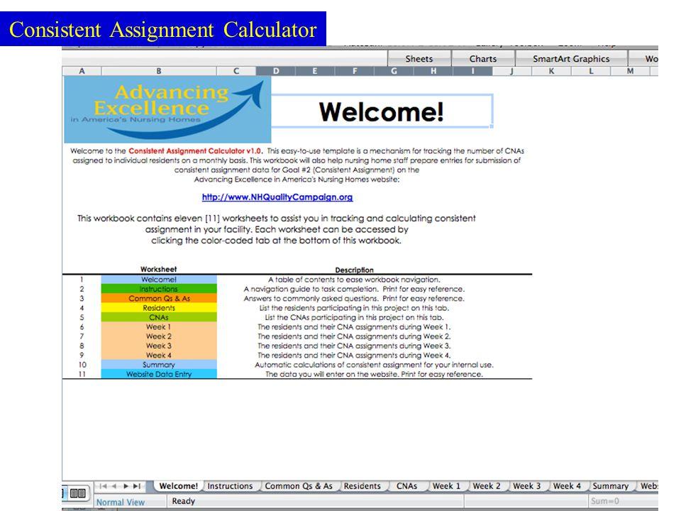 77 Consistent Assignment Calculator
