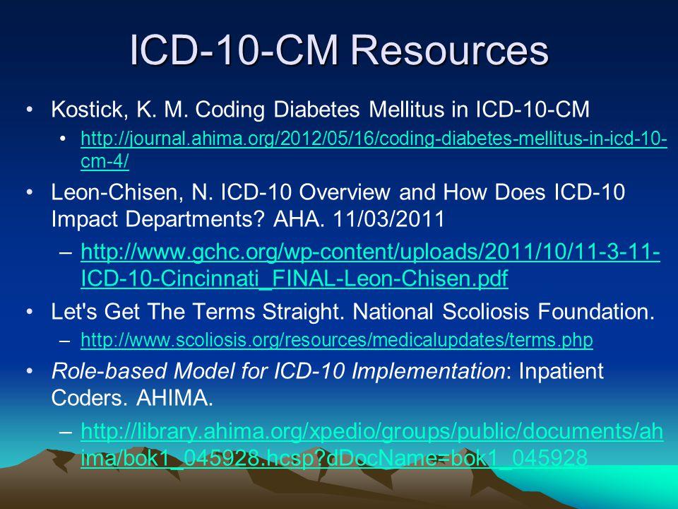 ICD-10-CM Resources Kostick, K.M.