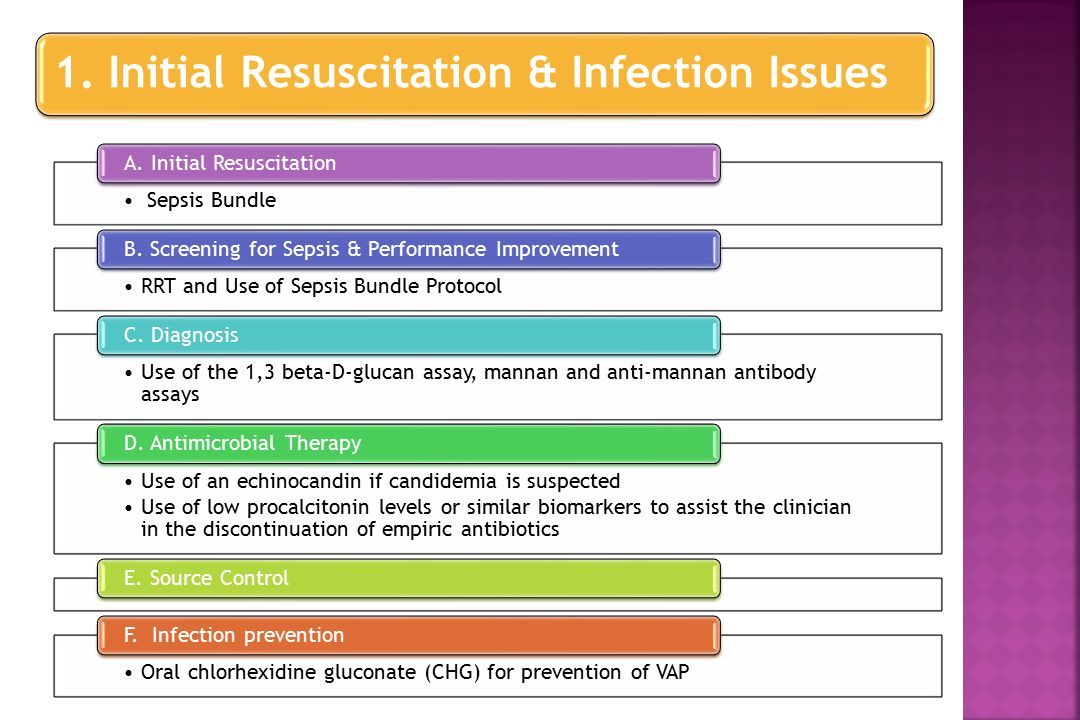 Sepsis Bundle A. Initial Resuscitation RRT and Use of Sepsis Bundle Protocol B.